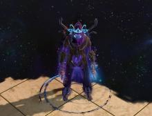 Gear your trickster to look like a mastermind of evil himself, with deep purples that compliment many of the chaos abilities.