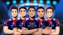 Trifecta team roster cartoon