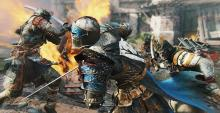 A Warden stands against two Orochi assailants