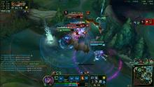 Fiddlesticks pounces from the fog of war, and shreds his trapped enemies in river.
