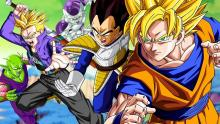 Goku and Vegeta with Picolo and Frieza