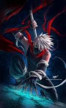 Kakashi is ready to pull his sword