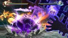 Two character battle each other in a bombastic setpieve spectacle