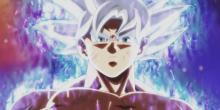 Beyond the power of a god, Goku ascends to a white-haired form.