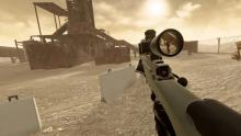 The player is aiming at an enemy to hunt down