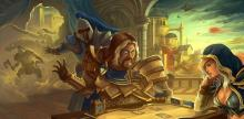 Even Uther can feel the addicting pull of a good CCG