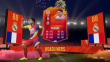 A headliners card shows Varane's great form.