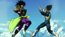 In one of the few canon films of the franchise, Vegeta (and Goku) fight against Broly. The latter, unlike his previous, psychotic incarnation, is simply trying to honor his dad and goes a little nuts in the process. Vegeta holds up fairly well through most of the result, but still needs Goku's assistance in matching Broly's savage strength.