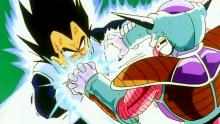 When Vegeta finally confronted his former employer, he thought he could test answer the question of whether he'd truly become a Super Saiyan. The answer? Not so much. Frieza, frankly, beat the crap out of Vegeta on-and-off until Goku showed up. Then, on death's doorstep, Vegeta begged Goku to beat Frieza and avenge the Saiyans, and then died miserably. (He got better though!)