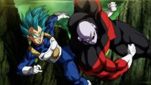 Given all of the foreshadowing that had been done for Goku's eventual battle with Jiren the Gray, there was no way Vegeta was going to win this one. Even so, gotta give him props for trying. (Also, since Vegeta gave Goku part of his power before being eliminated from the Tournament of Power, he did technically help in bringing the guy down.)
