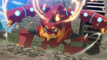Volcanion uses heat and water to launch explosive attacks!