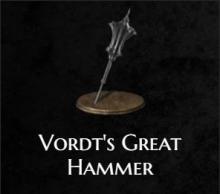 Vordt's great hammer from Dark Souls 3