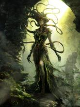 Vraska the planeswalker is part gorgon, part pirate