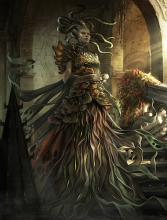 The gorgon queen Vraska seeks relics for her power