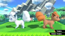 Two possible versions of Vulpix that can appear from a pokeball