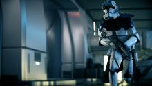 A lonely clone trooper late for action.