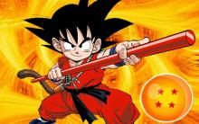 Goku as a child - much different than we see him later in different series.