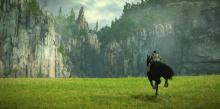 Wanderer riding Argo: Shadow of the Colossus