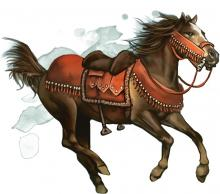 War Horse with saddle