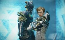Volt and his operator pose in captura