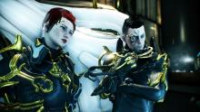 Two operators, dressed in gold, explore Lua