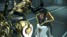 An operator strengthens her transference bond with her Warframe, Frost