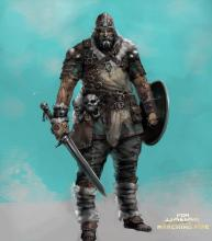 Concept art for Warlord's new armor set