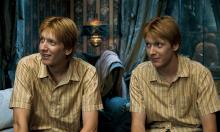 The Weasley twins are clearly up to no good
