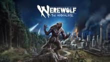 Werewolf artwork featuring masculine wolf