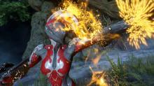 Ember unleashing a fireball!