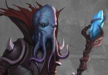 The visage of a scary looking Mindflayer.