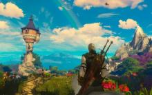 A screenshot showing a secret fairy land in The Witcher 3 Blood and Wine