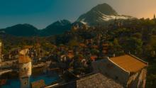 A screenshot of Beauclair, the capital city of the Duchy of Toussaint