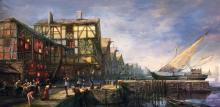 The art of the harbour in Novigrad proves the top quality of the concept artists in CD Projekt Red.