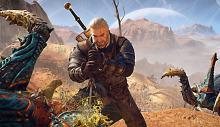 Geralt's battles can get a bit messy.