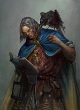 Wizard with Raven familiar