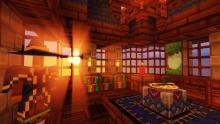 Construct your own magic room for all your wizard-ing needs in the Electroblob's Wizardry mod.