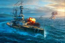 The Bellerophon is the first battleship in the U.K. line