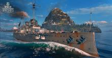 The Nassau is the first battleship in the German line
