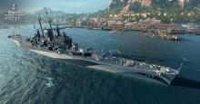 The Richelieu is the tier VIII French battleship and all of it's main guns are on the front