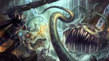 Heroes of Azeroth battling with Yogg-Saron