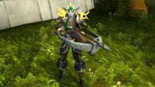 A night elf huntress