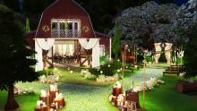 Here's a wider perspective on what the barn wedding listed in the article looks like. What a sight.
