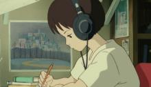 Interesting fact: did you know Lo-fi study girl was based on this screen shoot of Shizuku in the movie Whisper of the Heart.