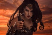 Diana can wield her sword against otherworldy foes.