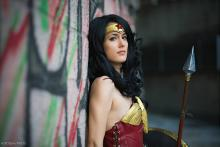 Wonder Woman contemplates the next battle.