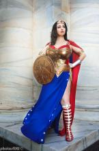 Princess Diana of Themyscira, ready to fight for justice.