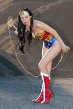 Diana, ready to use the Lasso of Truth to fight for the world!