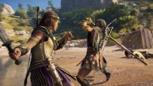 Players can use a variety of two-handed weapons to boost their power in close battles.