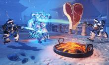 A couple of Mei's in action during the Overwatch holiday event Yeti Hunter.